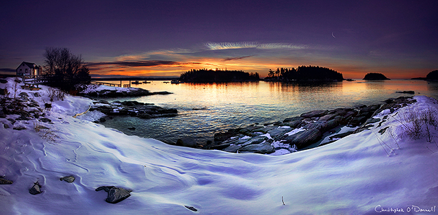Five Islands, Georgetown, Maine. Last sunrise of 2010, New Year's Eve.