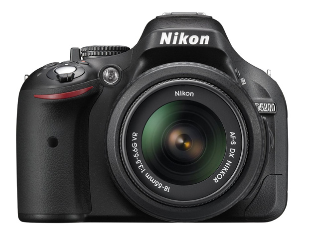 The Nikon D5200 comes in at under $900 with a lens.