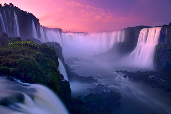On Earth as it is in Heaven - Iguazu Falls (Foz do Iguassu) at sunrise, Brazil