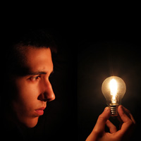 Creating a Photo of a Light Bulb Powered by the Mind