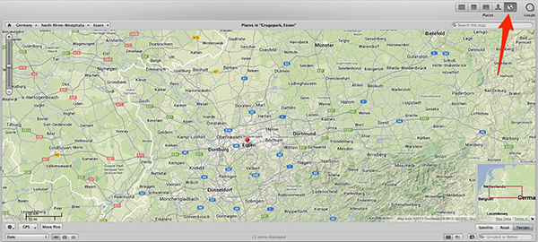 The Map view shows you easily where all your photos were taken.