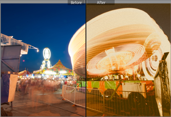Use the color panel to adjust color and build custom, film-style looks.