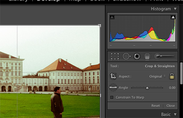 Options will appear on the right side of Lightroom, and you can click the lock to lock the image's aspect ratio.