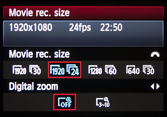 The Options Available For Frame Rates On Canon T3i In This Quick Tip Im Using 1080p24 And 720p60