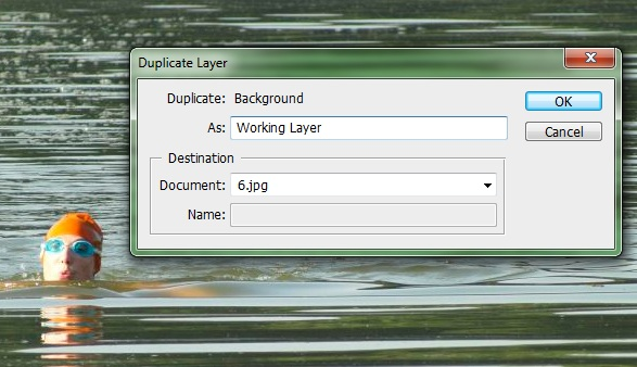 Name the duplicate layer