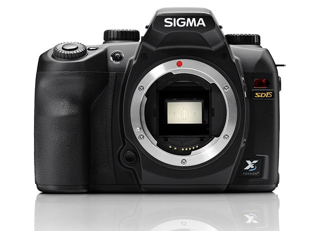 The Sigma SD15 like all Sigma SLRs using the interesting Foveon sensor
