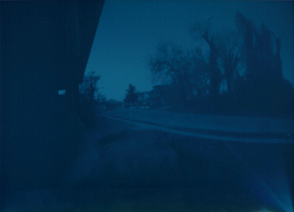The first pinhole pic that exposed properly, as above.