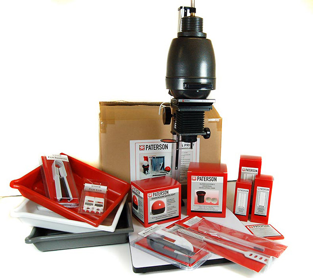 The complete kit from Paterson has everything you need to build your darkroom. Just find the right place and you're set!