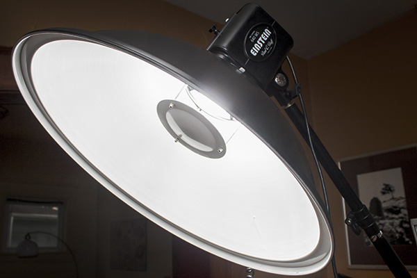 "A 22"" beauty dish, white interior."